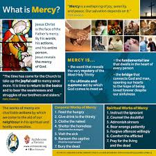 what is mercy corporal works of mercy spiritual works of mercy