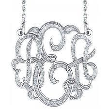three initial monogram necklace 3 initial monogram necklace clipart