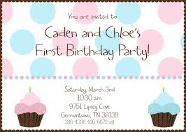 simple birthday invitation wording twin first birthday cupcake birthday party invitation digital