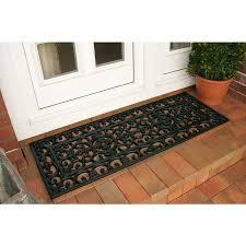 Coco Doormat Coco Extra Long Black French Door Mat 60 X 120cm 0149 Kukoon