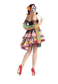 halloween costume mexican skeleton amazon com party king day of the dead women u0027s costume set with