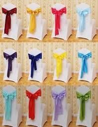 wedding chair covers and sashes lot 100 satin sash bow chair covers sashes bows tie for wedding