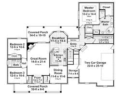traditional style house plan 3 beds 2 00 baths 1934 sq ft plan