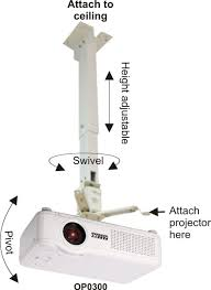 Ceiling Mounted Projectors by Parrot Products Parrot Ceiling Mount Projector Bracket Op0300