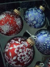 painted look ornaments make great wedding gifts