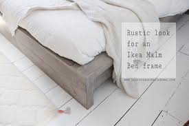 Malm Ikea Bed Frame Ikea Hack Rustic Look For A Malm Bedframe Hester S Handmade Home