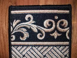 stair treads black u0026 beige serged carpet runners