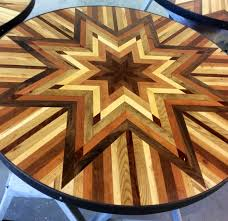 i made quilt inspired tables out of salvaged wood i found all