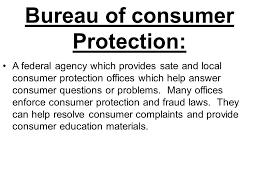 consumer fraud bureau competencies define consumer terms define agencies and