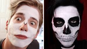 skeleton face paintings for halloween skull face painting youtube