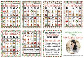 the kurtz corner free printable bingo cards