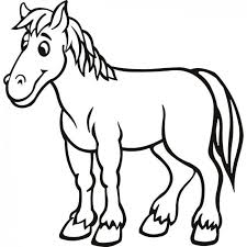 horse coloring pages preschool kindergarten