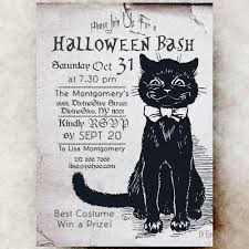 Halloween Pictures Printable Halloween Invitation Black Cat Printable Invite Diy 5x7 Or 4x6