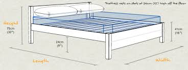 What Is The Size Of A King Bed King Size Bed Frame Dimensions Medium Size Of Bed Framesqueen