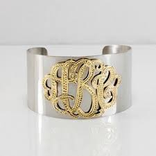 monogrammed cuff bracelet silver and gold monogram cuff bracelet be monogrammed