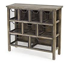 amazon com industrial rustic metal wire mesh sideboard buffet
