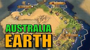 True World Map by Civ 6 Australia Gameplay True Start Earth Map Let U0027s Play