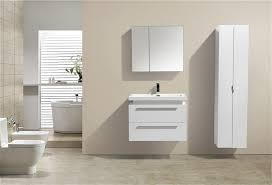 High Gloss White Wall Mount Modern Bathroom Vanity - Bathroom vanity for vessel sink 2