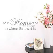 Home Is Quotes by Aliexpress Com Buy Home Is Where The Heart Is Vinyl Wall
