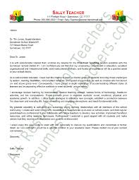 teachers cover letter example elegant teacher cover letter