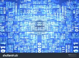 Blue Pattern Background Abstract Light Blue Binary Code Pattern Stock Illustration