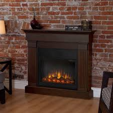 slim line electric fireplace in chestnut oak 8020e co the home depot