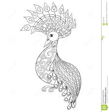 coloring page with bird zentangle illustartion bird for