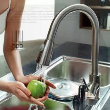 brass sink mixer and cold water tap pull type retractable
