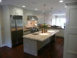 kitchen sleek laminate floor combined with white kitchen
