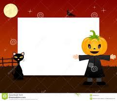 free halloween background border images halloween border pumpkin scarecrow royalty free stock image