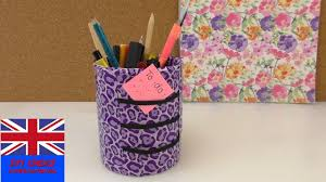 pen holder tutorial how to decorate a tin desk organisation