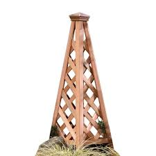 arboria 48 75 in copper top pyramid cedar trellis 860 1596 the