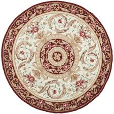 Red Round Rug Round Oriental Rug Roselawnlutheran