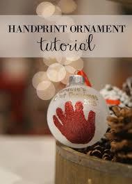 diy baby handprint ornament graceful
