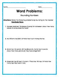 word problems rounding to the nearest hundreds place 2 pages 4