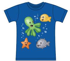 octopus and fish kids print to order t shirt genki gear ltd