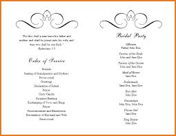 wedding booklet templates 10 event program booklet template plantemplate info