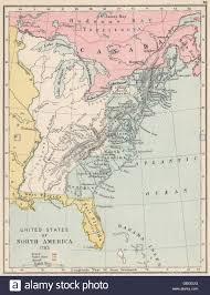 Spanish Map Of North America by Usa In 1783 North America Spanish Florida U0026 Louisiana 1907