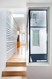 architecture corridor detail with glass with blinds decoration