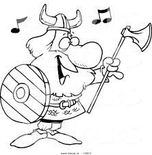 mn vikings coloring sheets viking gods pages minnesota cartoon