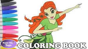 dc super hero girls poison ivy coloring book pages dc superhero