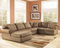 Large Brown Sectional Sofa Furniture Large Brown U Shaped Sectional Sofa With Mosaic
