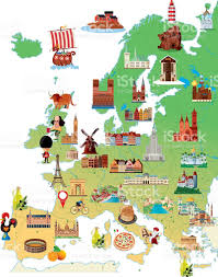 Map Pf Europe by Cartoon Map Of Europe Stock Vector Art 485001378 Istock