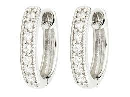 hoop diamond earrings diamond huggie hoop earrings judefrances