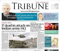 The Latest Terrorist Lanka Uri Terror Attack Here U0027s How Pakistan Newspapers Covered It The