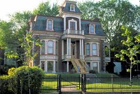 victorian house with stair elegant and romantic victorian house