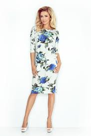 sporty dress colored large blue flowers 13 65 liloulavelle com