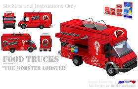 truck instructions lobster mobster food truck instructions and sticker pack