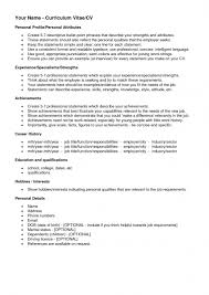 opening statement resume list of hobbies for resume samples of resumes