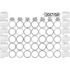 wallpops sketch academic 2017 2018 calendar whiteboard chalkboard